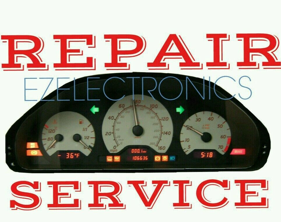 Mercedes benz c class e class clk instrument cluster for Mercedes benz cluster repair
