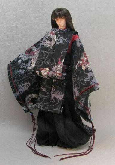 1 6 Japanese Dragon Robe Samurai Japan Traditional Tk