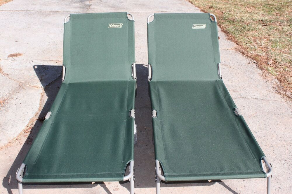 2 New Coleman Cots Cot Converta Folding Sleeping Bed