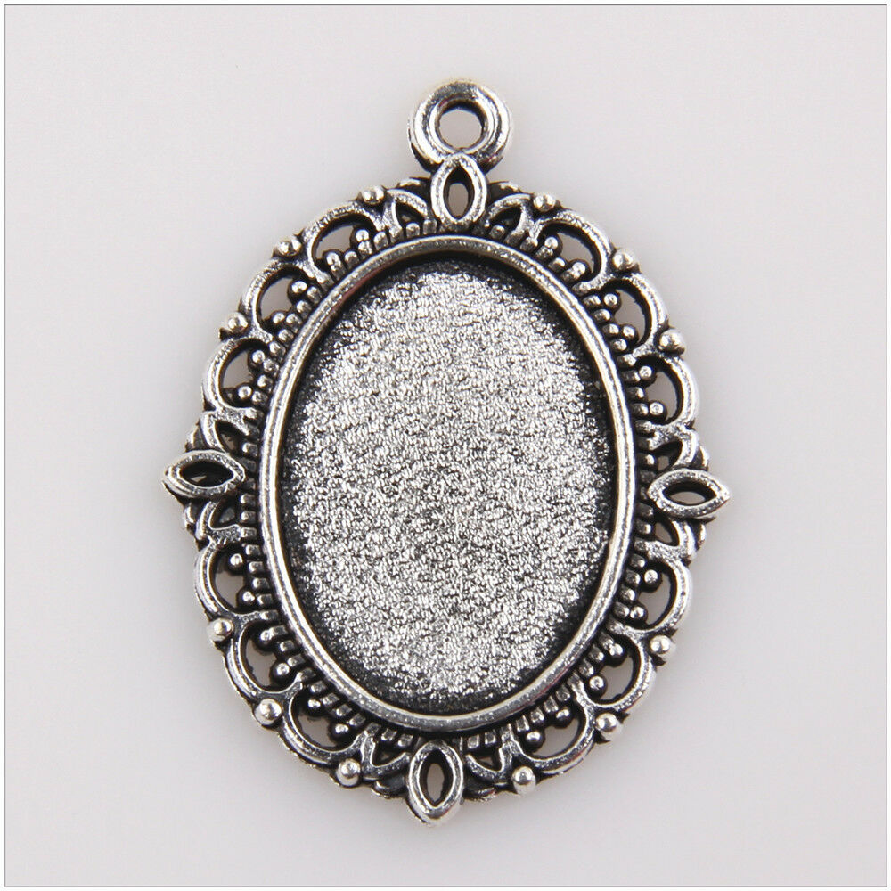 30pcs photo frame tibetan silver pendants jewelry making for Earring supplies for jewelry making