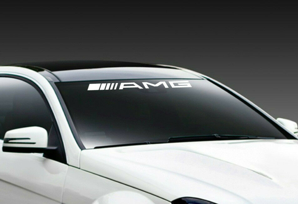 Amg mercedes benz c55 e55 cls63 racing windshield decal for Mercedes benz amg emblem