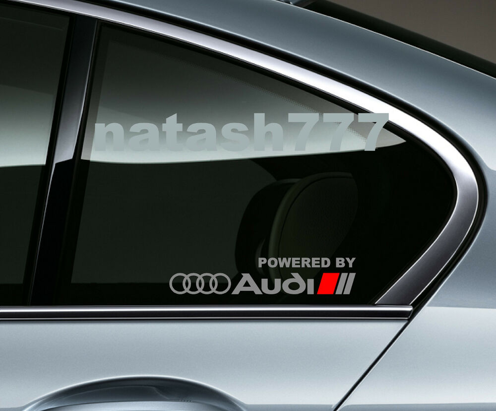 powered by audi racing sport s line window decal sticker. Black Bedroom Furniture Sets. Home Design Ideas
