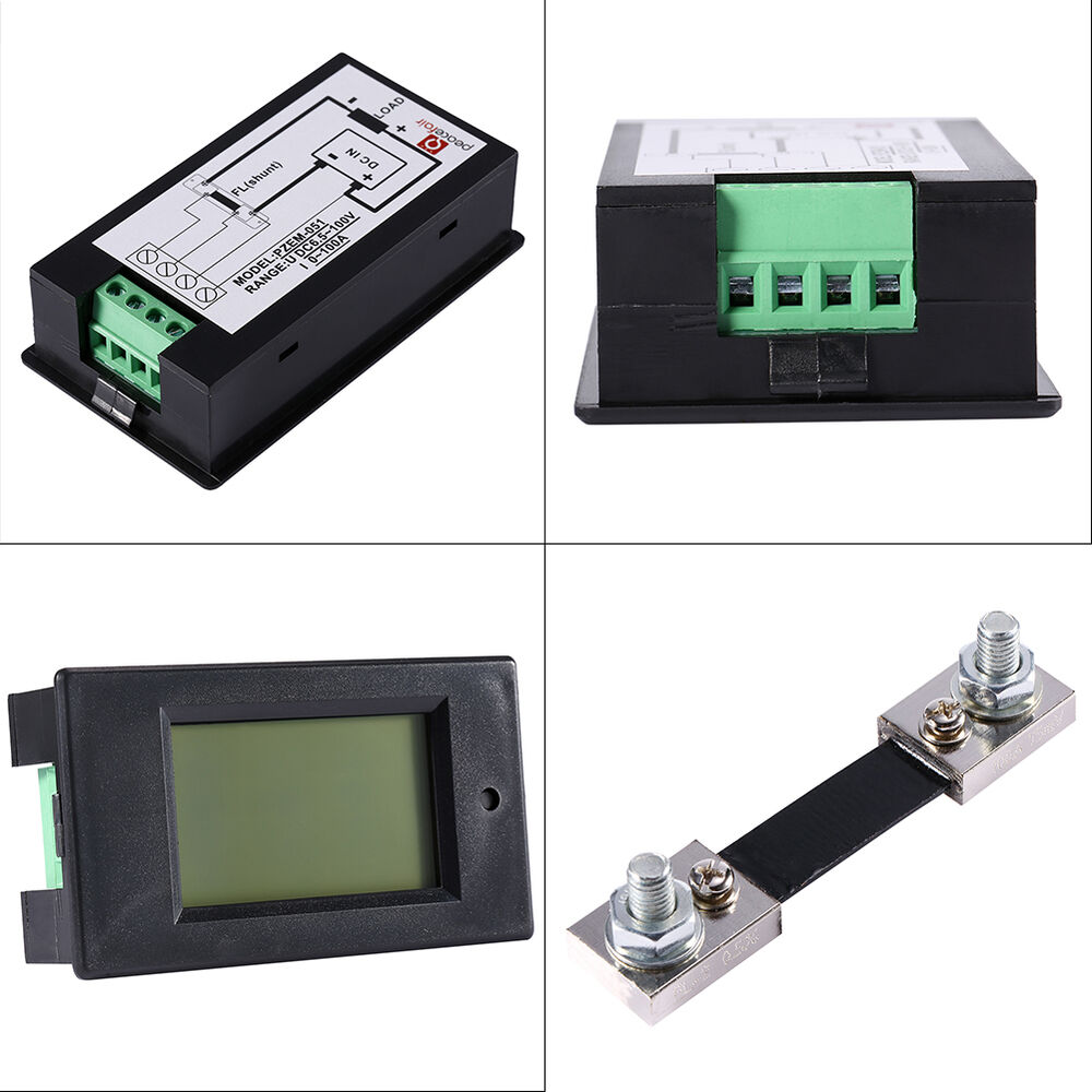 1000 Amp Battery Monitor : Dc a lcd voltage current kwh watt car battery panel