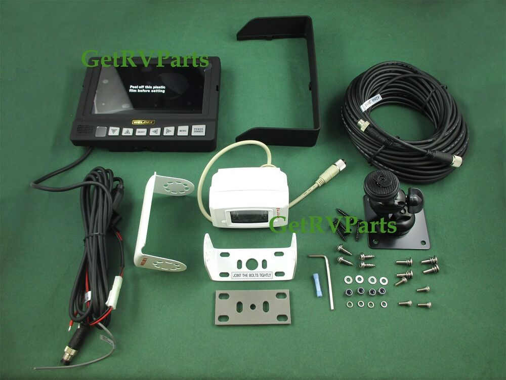 Rv Electrical System Monitor : Weldex rv motorhome quot rear view monitor system wdrv
