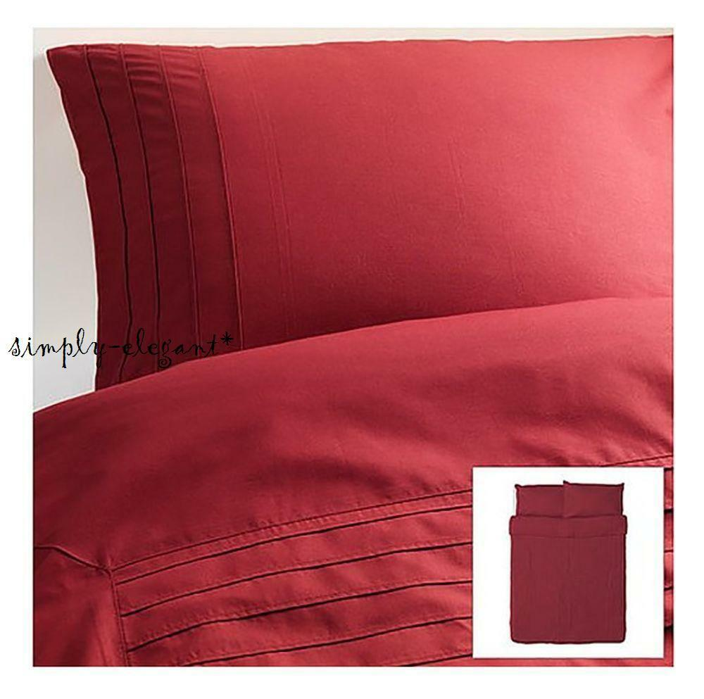 Ikea alvine stra red duvet cover quilt cover 3 piece set for Ikea bed covers sets queen