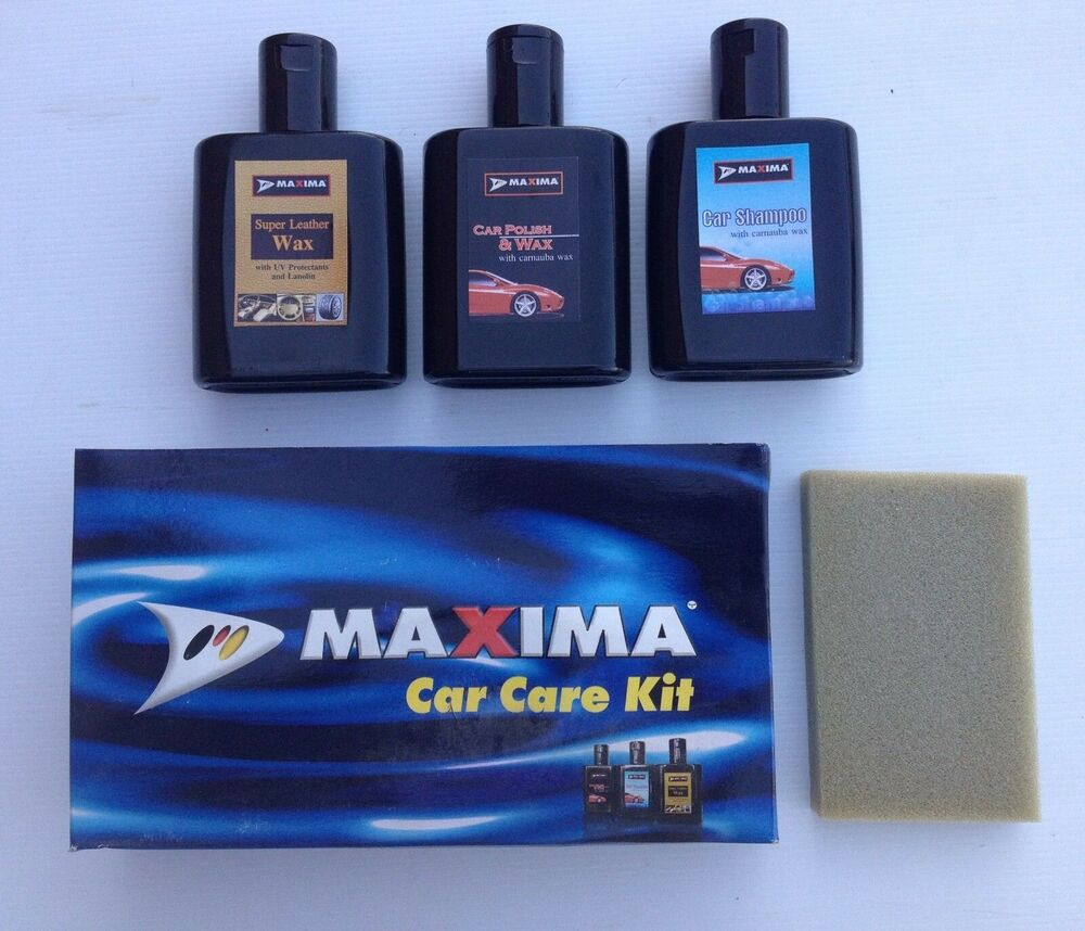 car care set shampoo polish wax upholstery cleaner applicator fathers day ebay. Black Bedroom Furniture Sets. Home Design Ideas