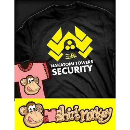 img-Nakatomi Towers Security. Die Hard T-shirt - Ladies/Gents XS - XXL Many Colours