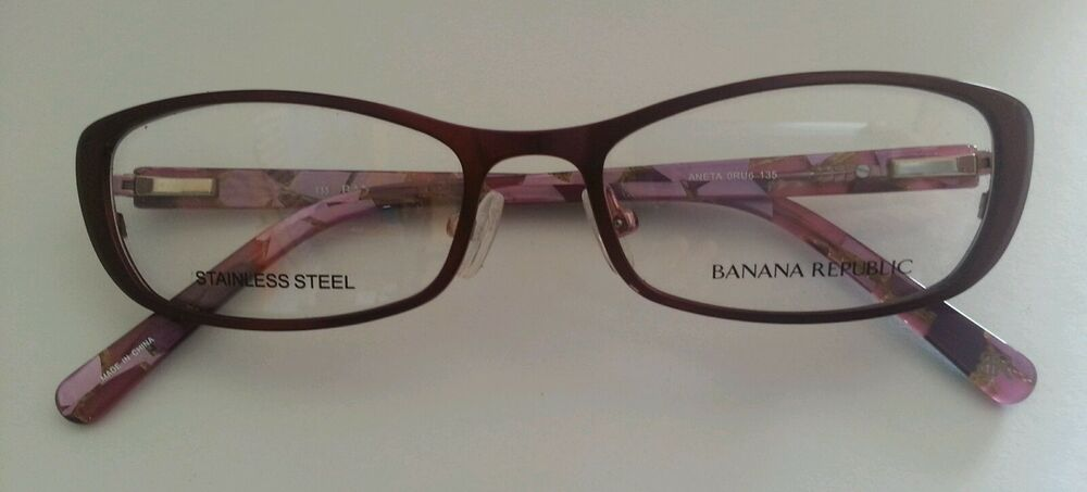 BANANA REPUBLIC Womens Eyeglasses Frame Aneta Plum 50mm ...