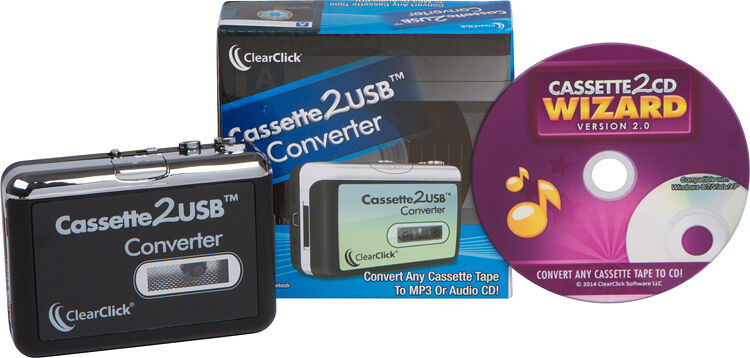 usb cassette tape converter player cassette tape to mp3 cd wizard software ebay. Black Bedroom Furniture Sets. Home Design Ideas