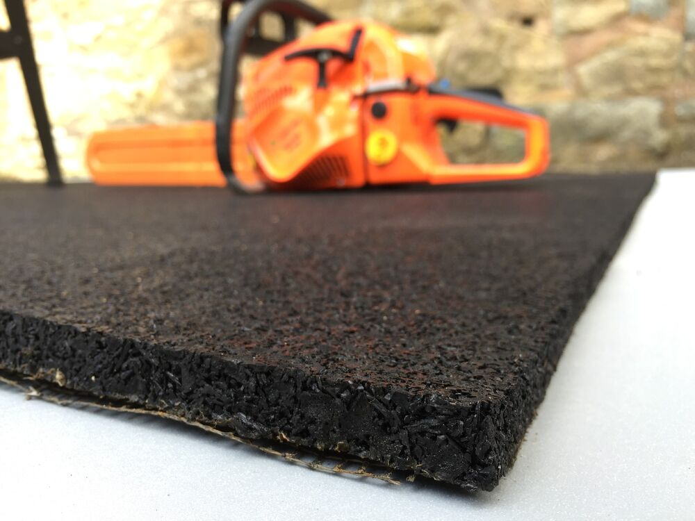 Rubber Gym Mat Commercial Flooring 15mm Extra Thick Garage
