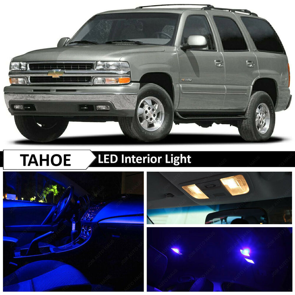 20x blue led interior lights package kit for 2000 2006 chevy tahoe ebay. Black Bedroom Furniture Sets. Home Design Ideas