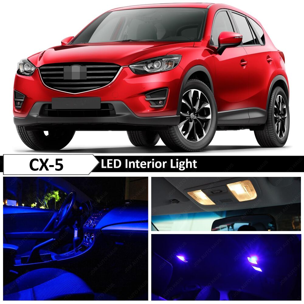 2013 Mazda Cx 5 Grand Touring For Sale: 11x Blue LED Light Interior Package Kit For 2013-2016