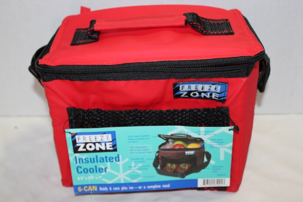 Coolers That You Can Freeze ~ Freeze zone red insulated can cooler ebay