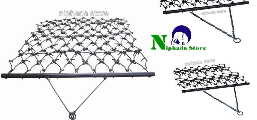 Landscape Rake Or Harrow : Tow chain harrow rake landscape arena pasture drag garden heavy duty