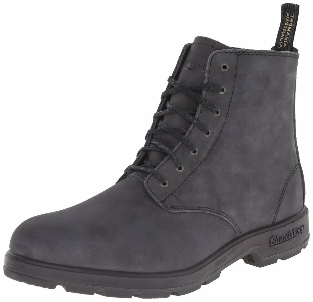 Men S Blundstone Lace Up Boot Bl 1451 Rustic Black Ebay