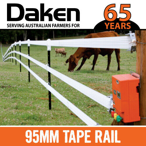 100m Electric Fence Tape 95mm Width 8 Heavy Duty Wires