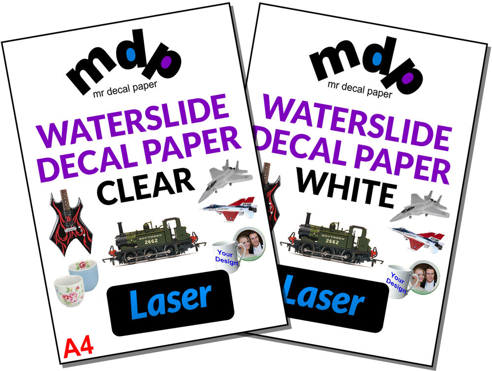 how to make water slide paper