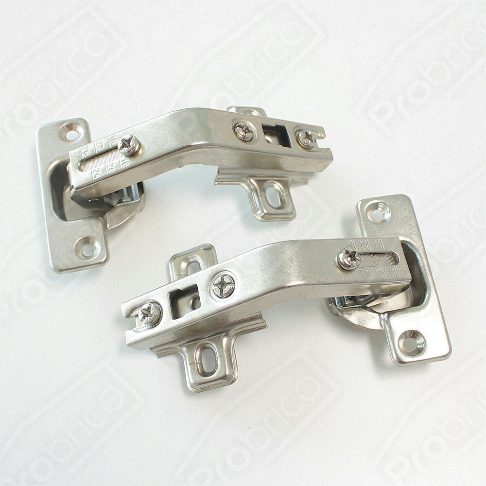 2 pairs corner folded combination kitchen cabinet cupboard door hinges 135degree ebay. Black Bedroom Furniture Sets. Home Design Ideas