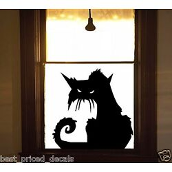 Scary CAT #2 ~ Halloween Wall or Window Decal
