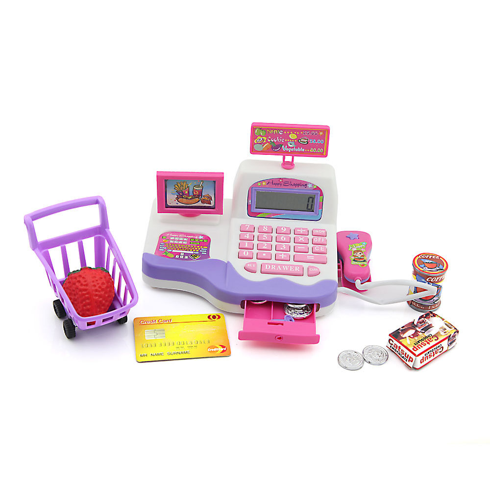 Deluxe Toy Cash Register : Simulat cash register playset role play toy for kids ebay