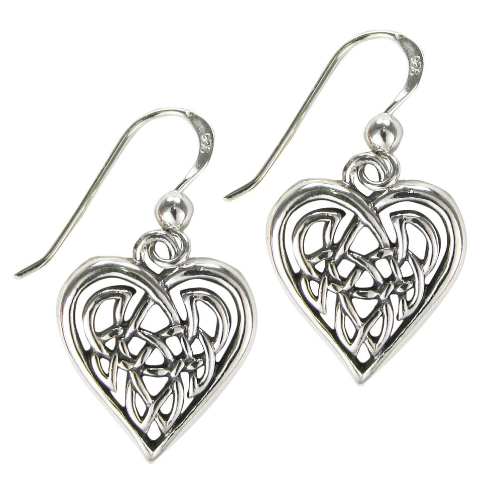 celtic knotwork earrings sterling silver celtic knot earrings 1085