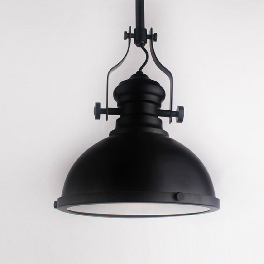 Industrial Dome Shaped Ceiling Light Fixture Drop Down