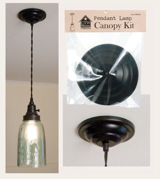 Pendant light small canopy : Black ceiling canopy kit for pendant lamp lights by ctw