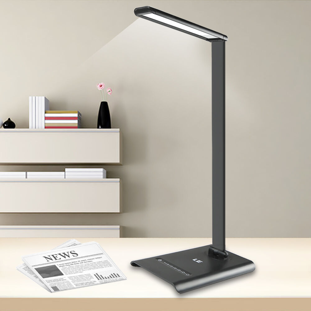 6w Touch Sensor 21 Led Light Dimmable Desk Table Reading