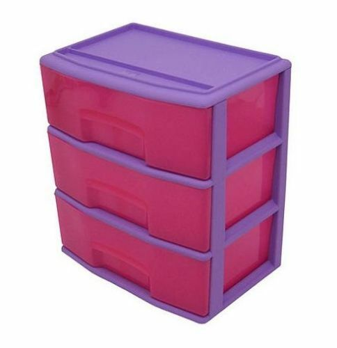 Childrens Animals Storage Box Chest 3 Kids Drawer Bedroom: Mainstays 3 Drawer Large Wide Cart Kids Toys Clothes
