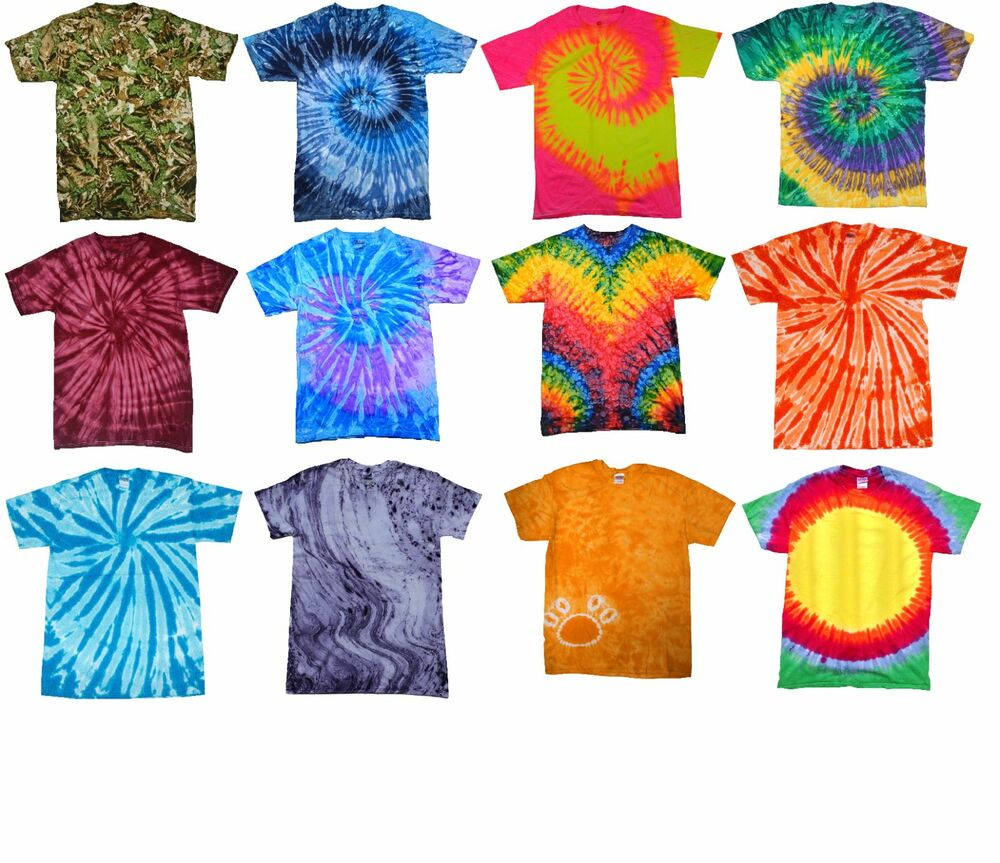 Tie dye t shirts multi color kids adult short sleeve for Tie dye coloring pages