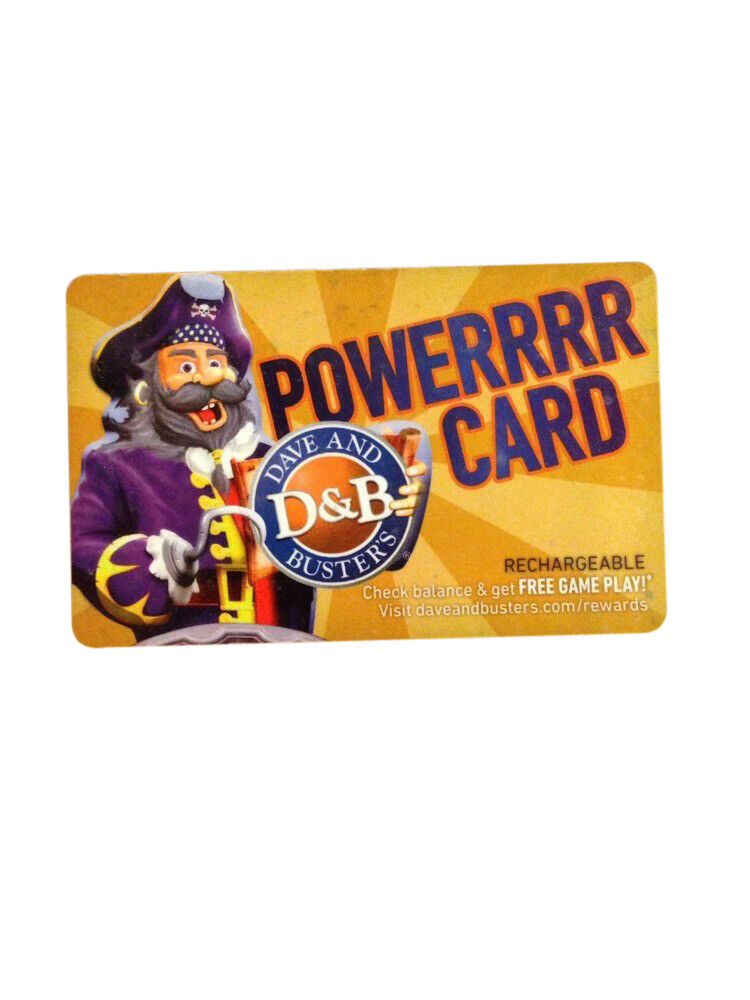 Dave And Buster Card