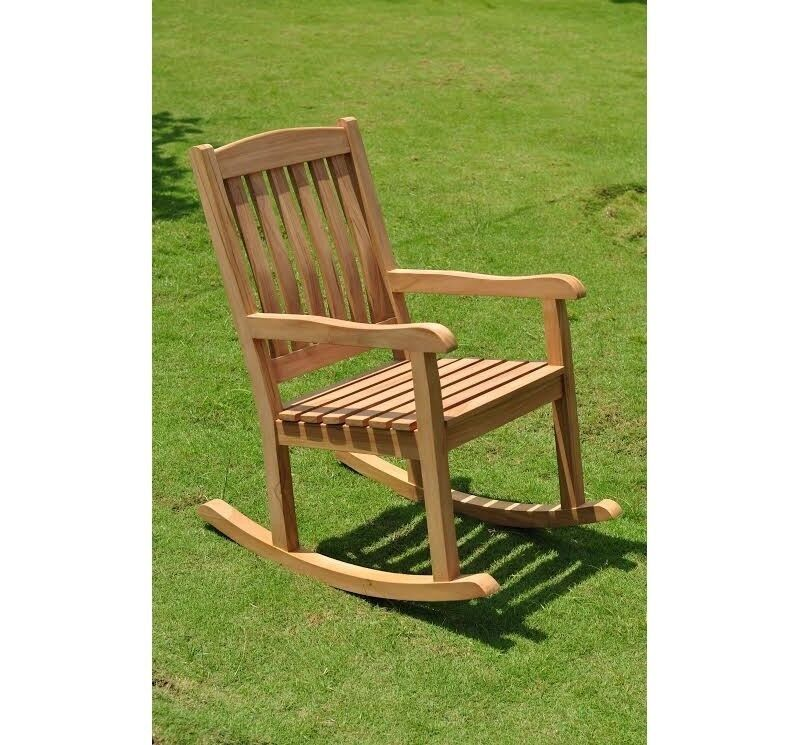 devon a grade teak wood beautiful rocker rocking arm chair outdoor patio garden ebay. Black Bedroom Furniture Sets. Home Design Ideas