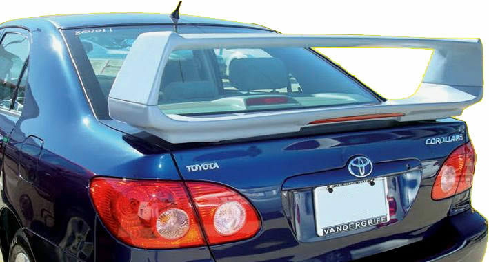 fits 03 08 toyota corolla custom style spoiler wing primer. Black Bedroom Furniture Sets. Home Design Ideas