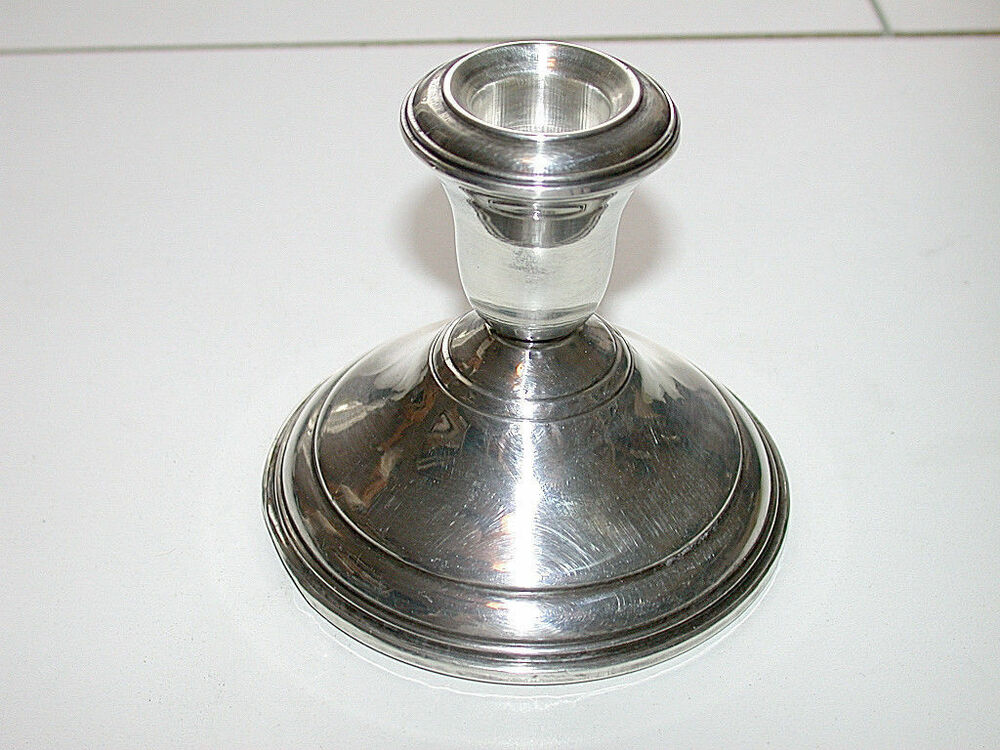Beautiful Antique Sterling Silver Candle Holder With