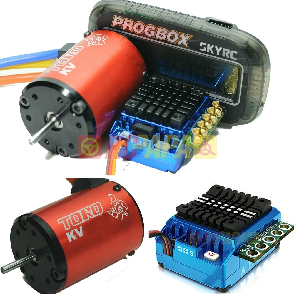 Skyrc toro ts120 3650 brushless motor esc program combo for 10 5 t brushless motor