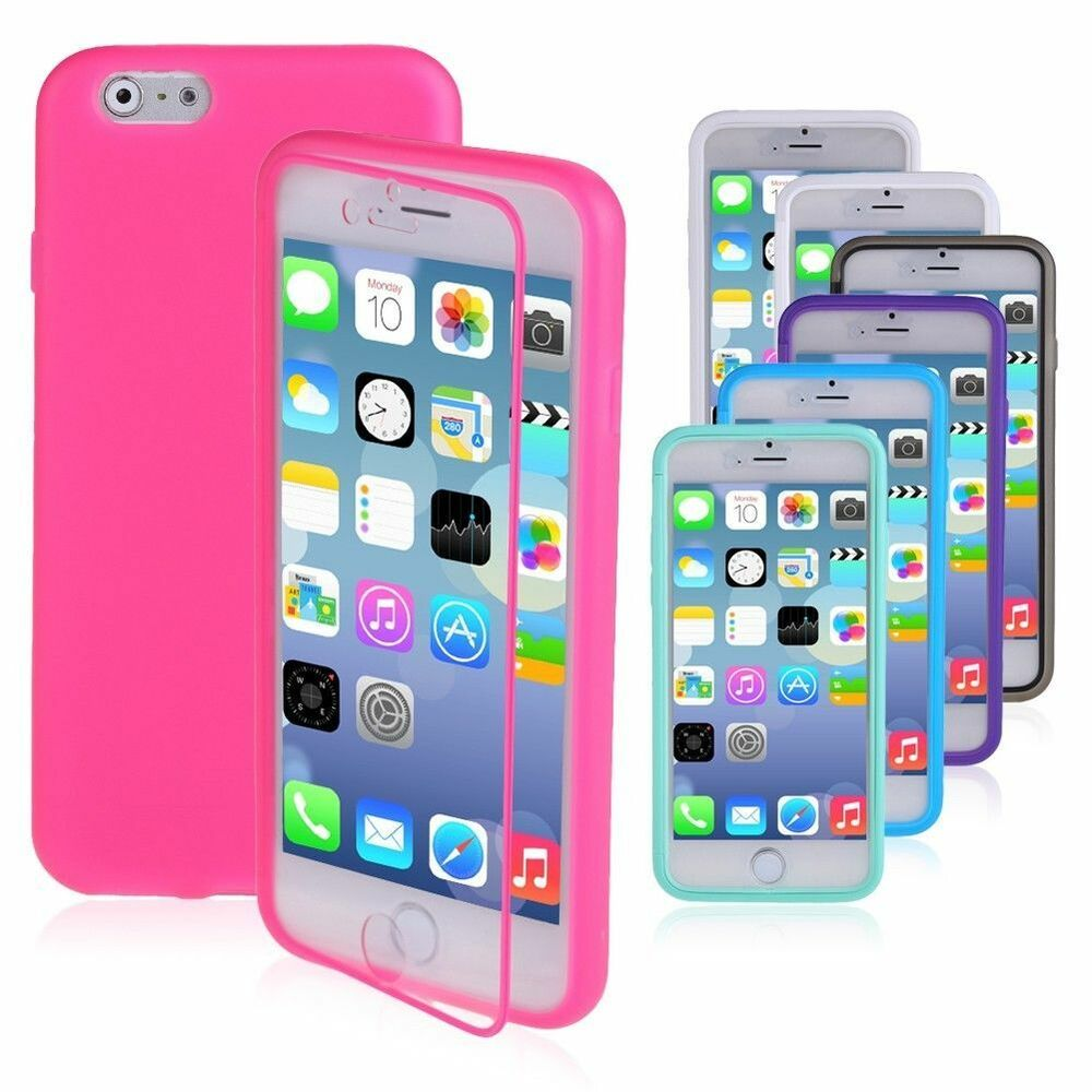 iphone 6 phone covers buy 1 get 1 free tpu wrap up cover built in screen 15014