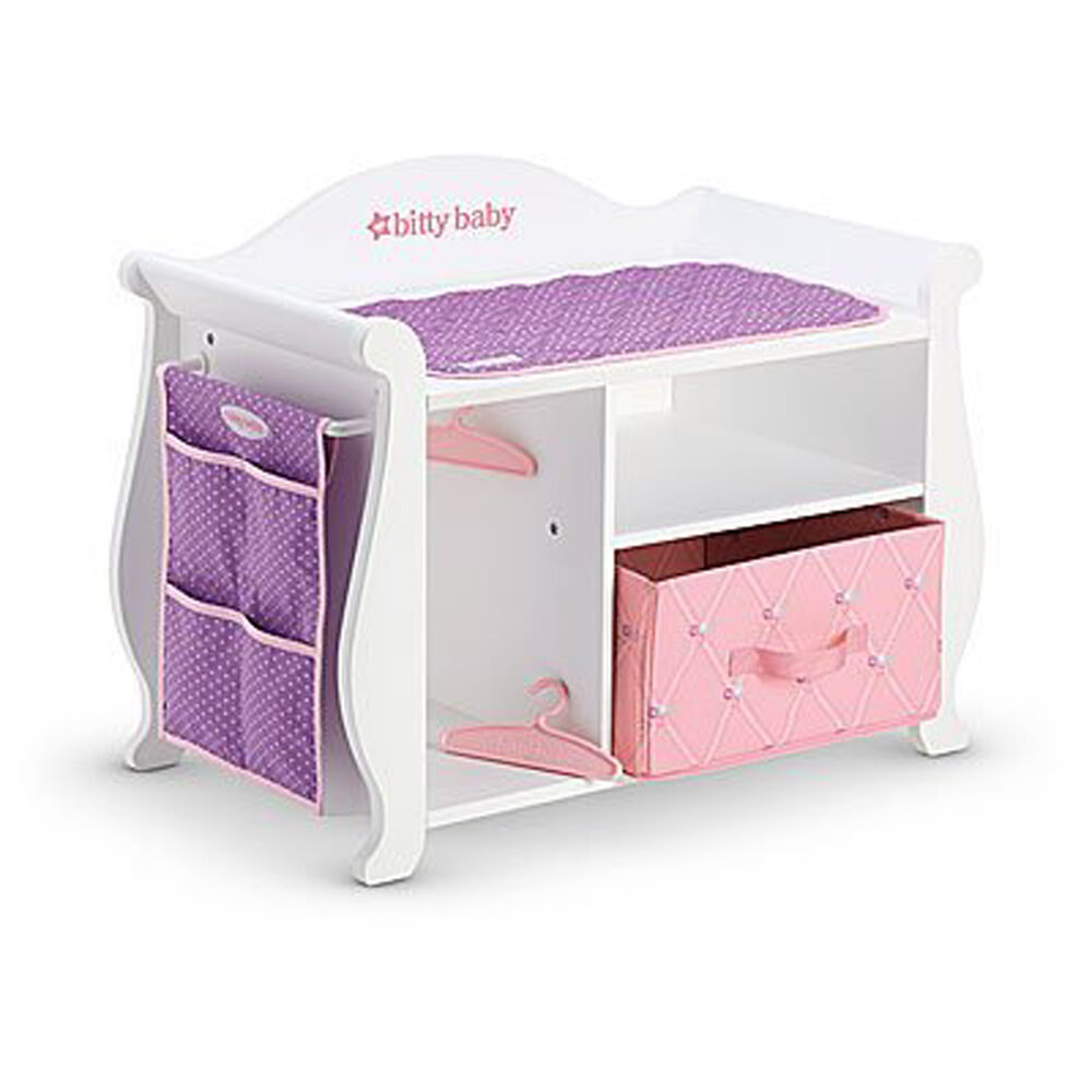American Girl Bitty Baby Changing Table Amp Storage 2015 For