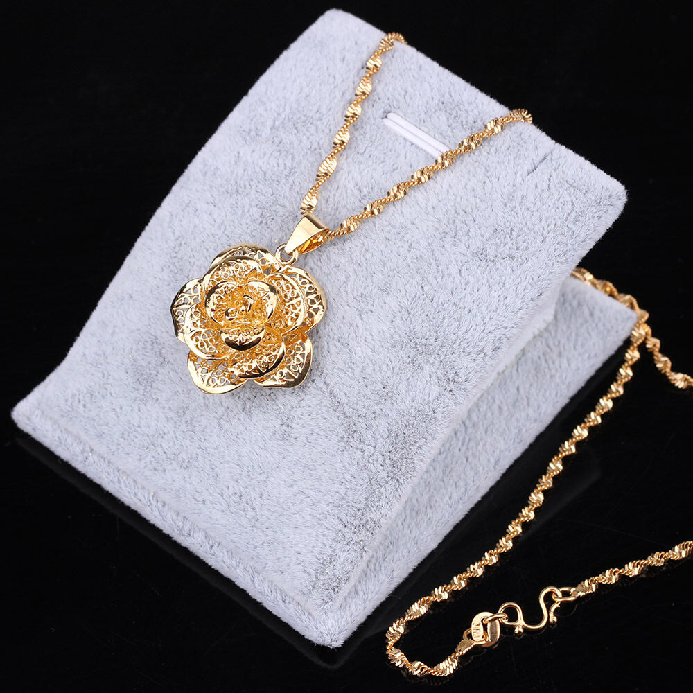 Fashion jewelry 24k gold yellow filled plated necklace for Gold filled jewelry