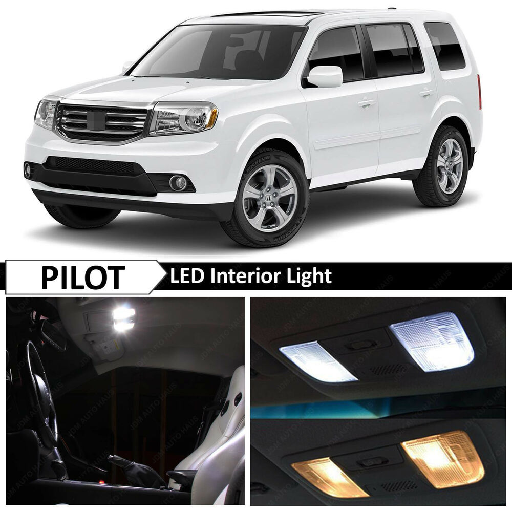 19x White Interior LED Lights Package Kit 2009-2015 Honda