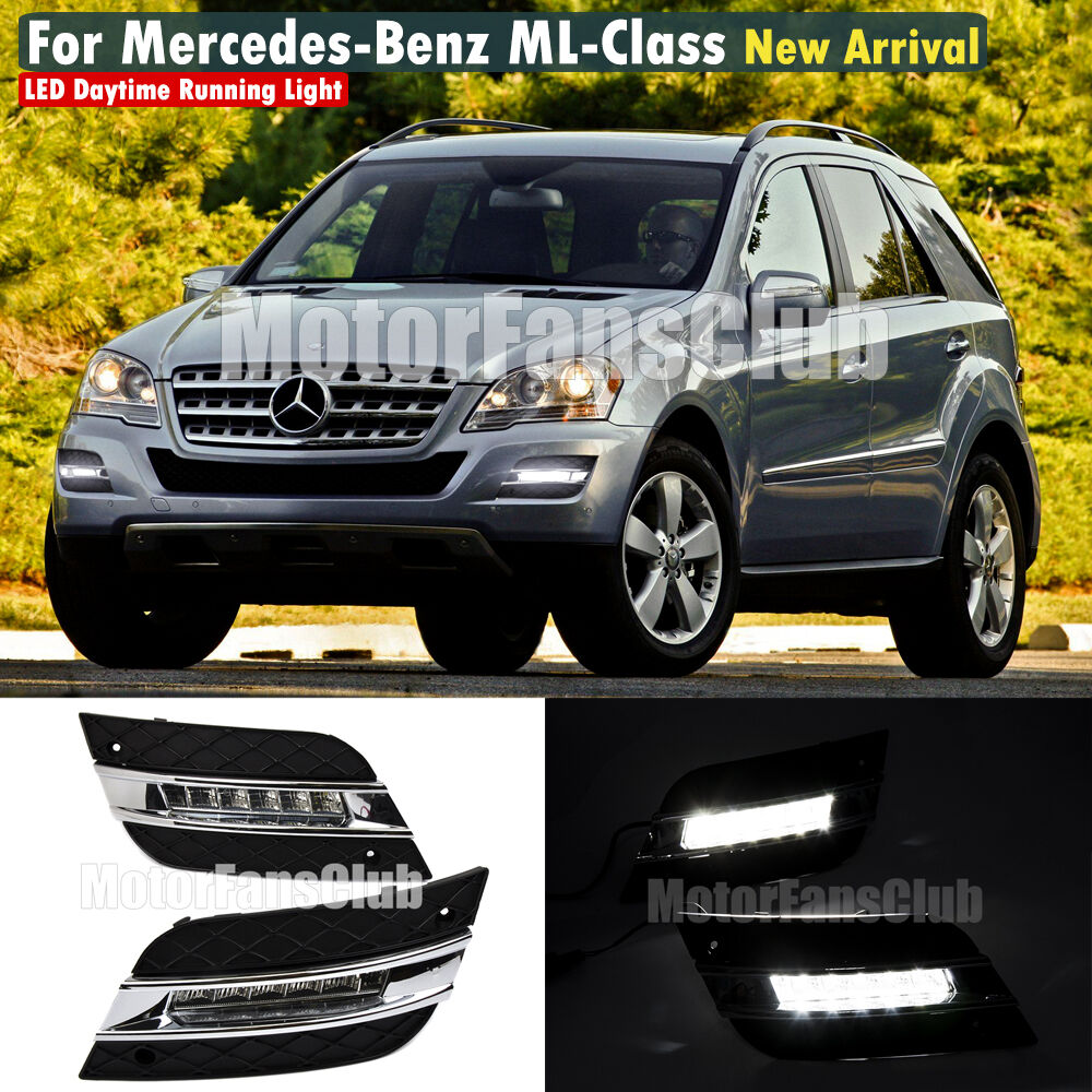 Led daytime running light for benz w164 ml class ml280 for Mercedes benz accessories ml350