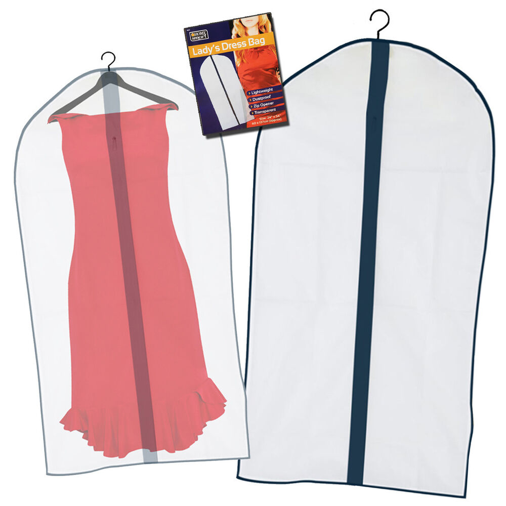 Ladies Dress Gown Garment Zipped Bag Protector Storage