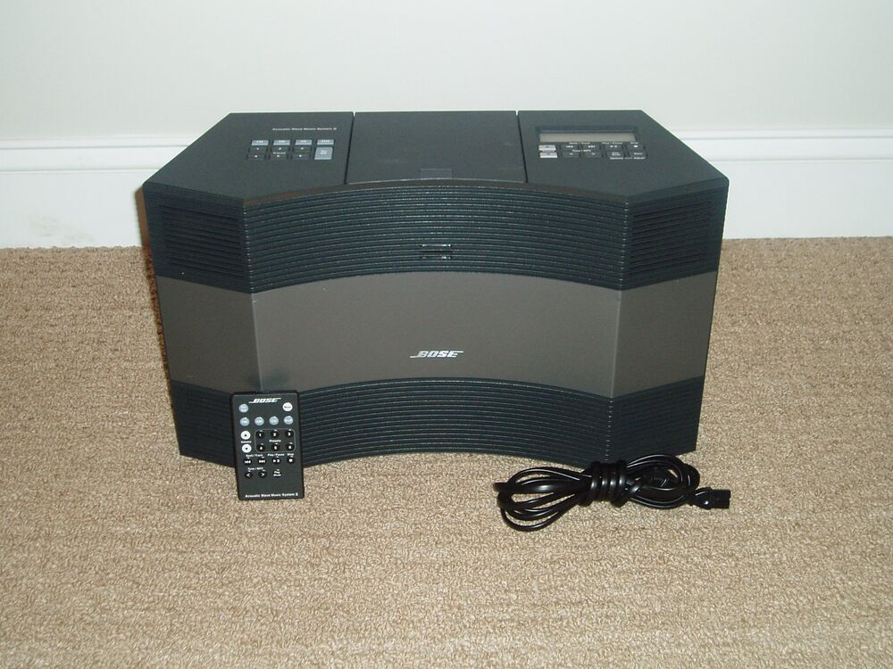 black bose acoustic wave music system ii am fm radio mint condition ebay. Black Bedroom Furniture Sets. Home Design Ideas