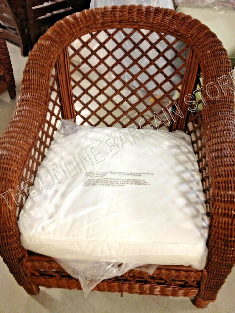 Frontgate Heyworth Oversized Wicker Woven Sofa Chair
