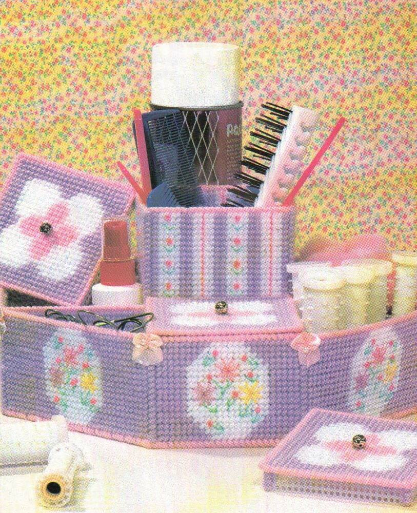 Hair Accessory Organizer Caddy Plastic Canvas Pattern