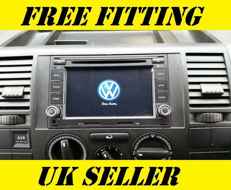vw sat nav dvd player android bluetooth transporter t5 t28. Black Bedroom Furniture Sets. Home Design Ideas