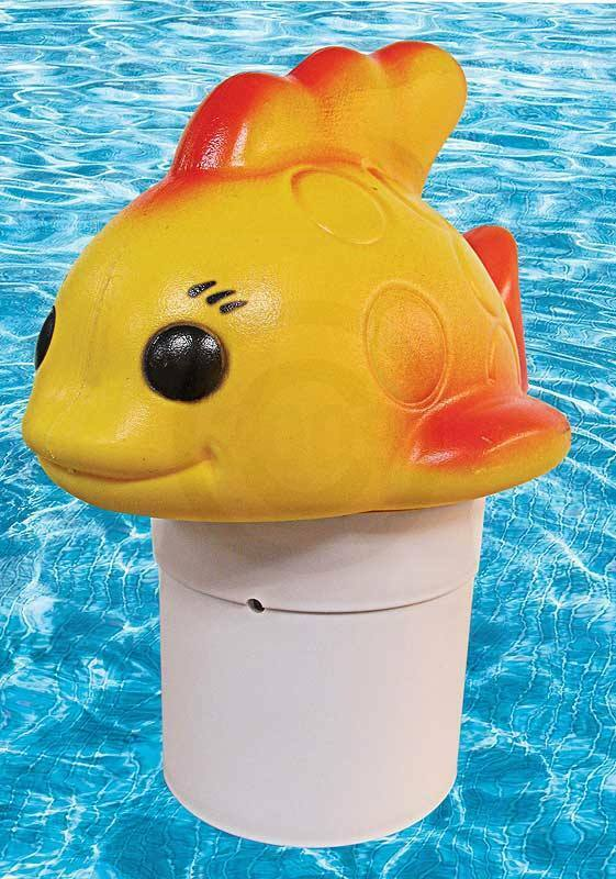 Floating Chlorine Bromine Dispenser For Swimming Pools Shaped As A Gold Fish Ebay