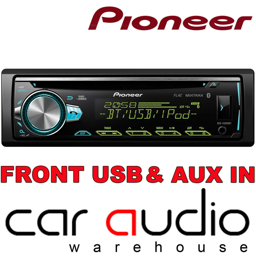 pioneer deh x5900bt cd mp3 usb aux ipod bluetooth android 50x4 car stereo player ebay. Black Bedroom Furniture Sets. Home Design Ideas