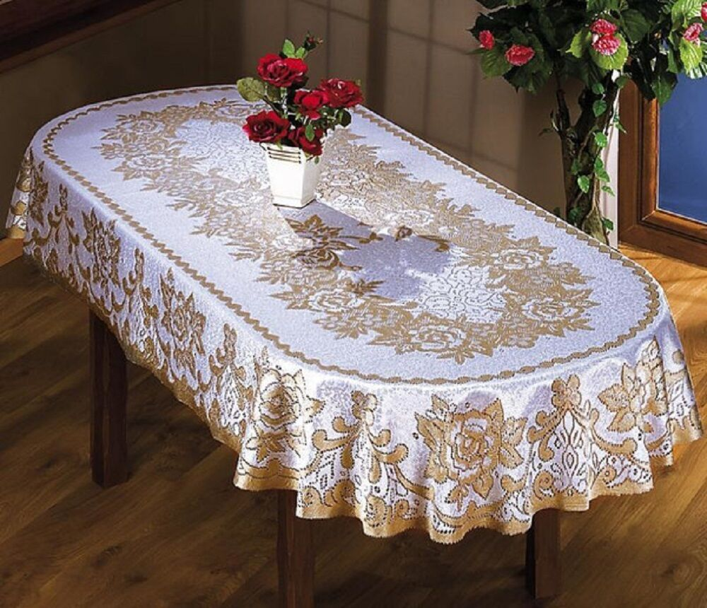LARGE OVAL TABLECLOTH TWO SIZES CREAMBEIGE FLORAL  : s l1000 from www.ebay.com size 1000 x 860 jpeg 161kB