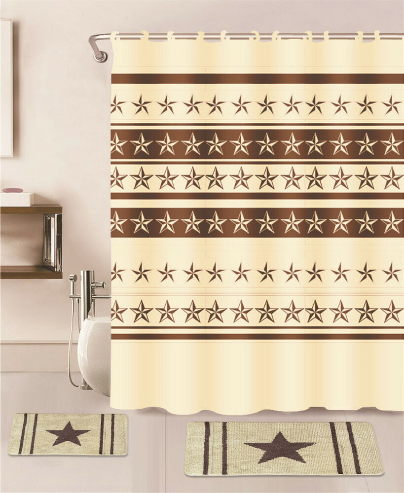 Beige star bathroom set bath mat rug contour carpet fabric for Beige bathroom set
