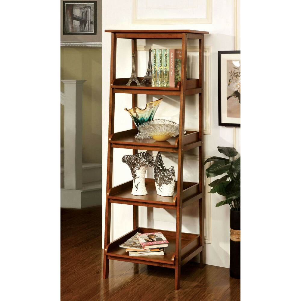 Exhibition Stand Shelves : Antique oak transitional wood open bookcase display